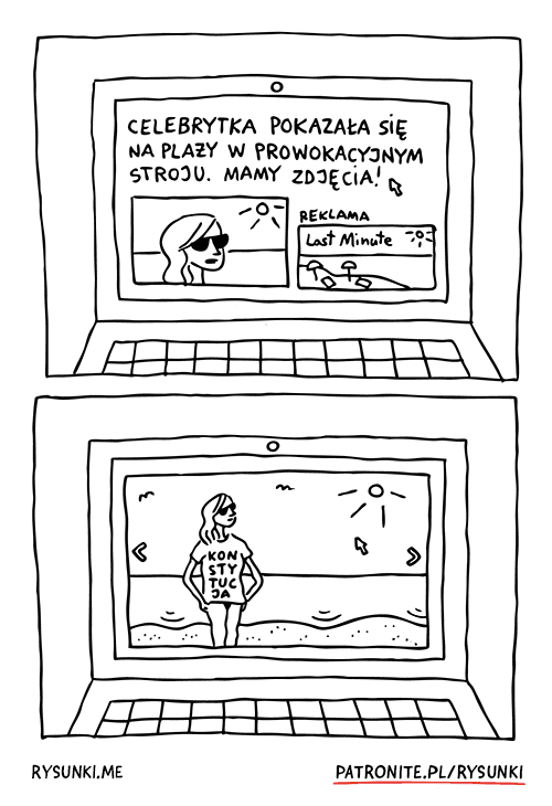 celebrytka pokazała się na plaży w prowokacyjnym stroju