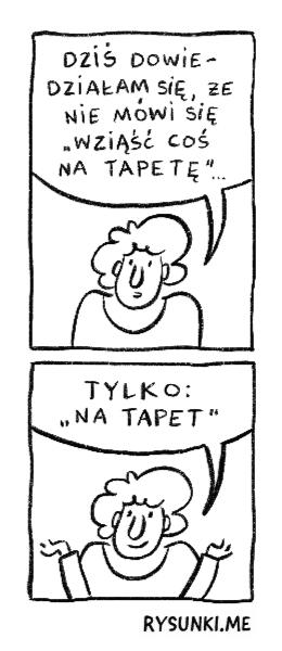 na tapetę
